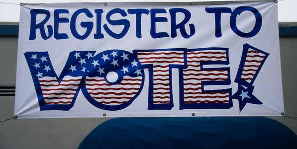 Register to vote, DEADLINE: OCTOBER 26