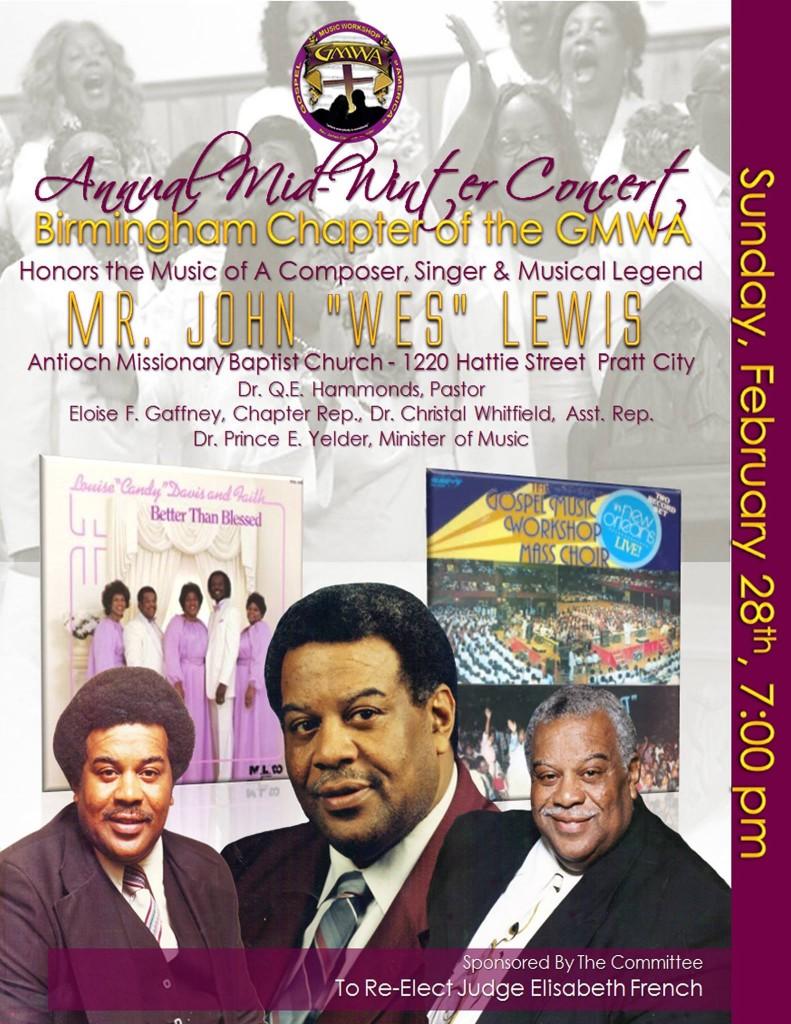 Bham GMWA John Wes Lewis Concert