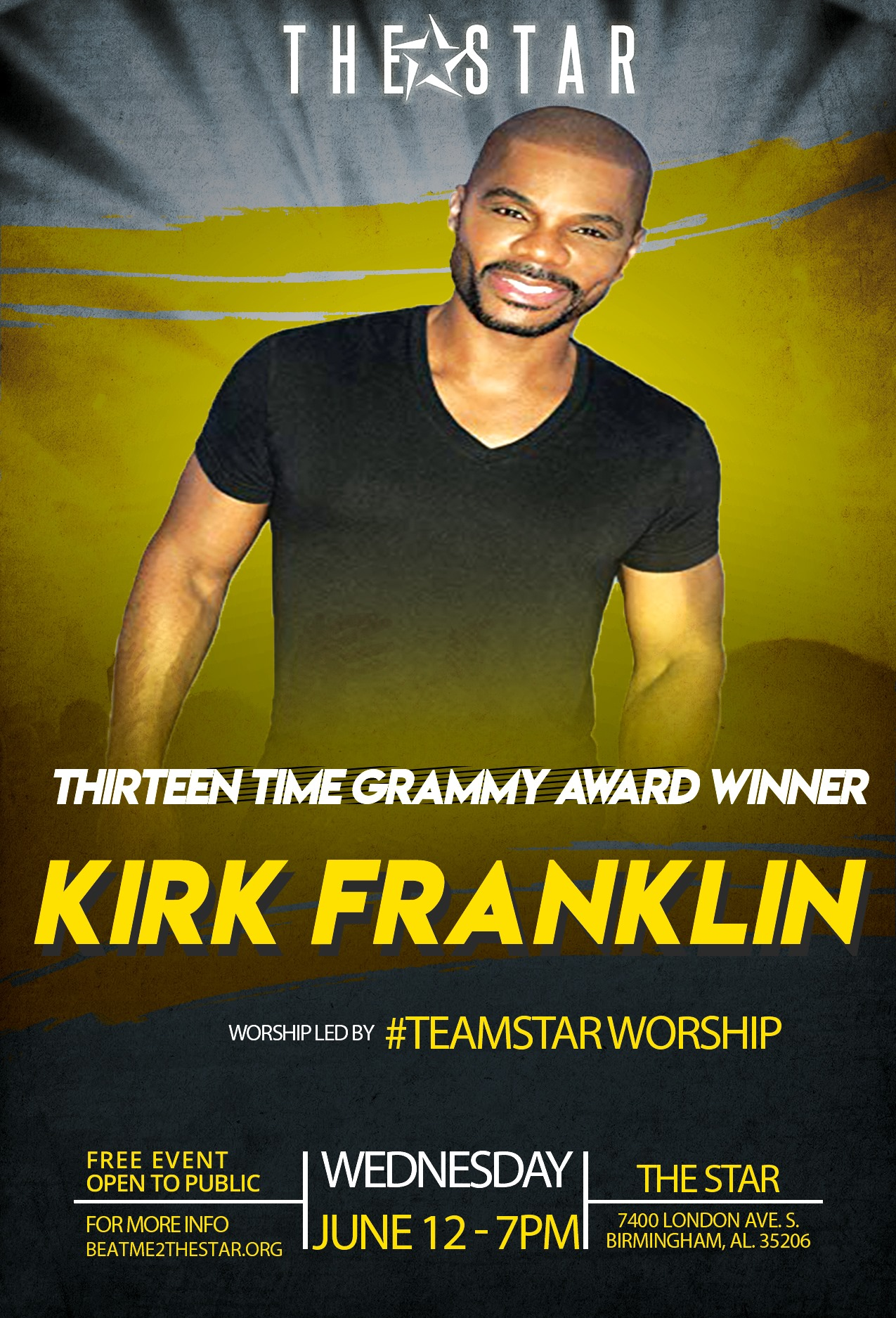 Kirk Franklin New Rising Star Birmingham