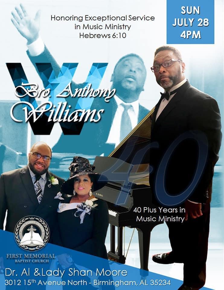Anthony Williams Appreciation