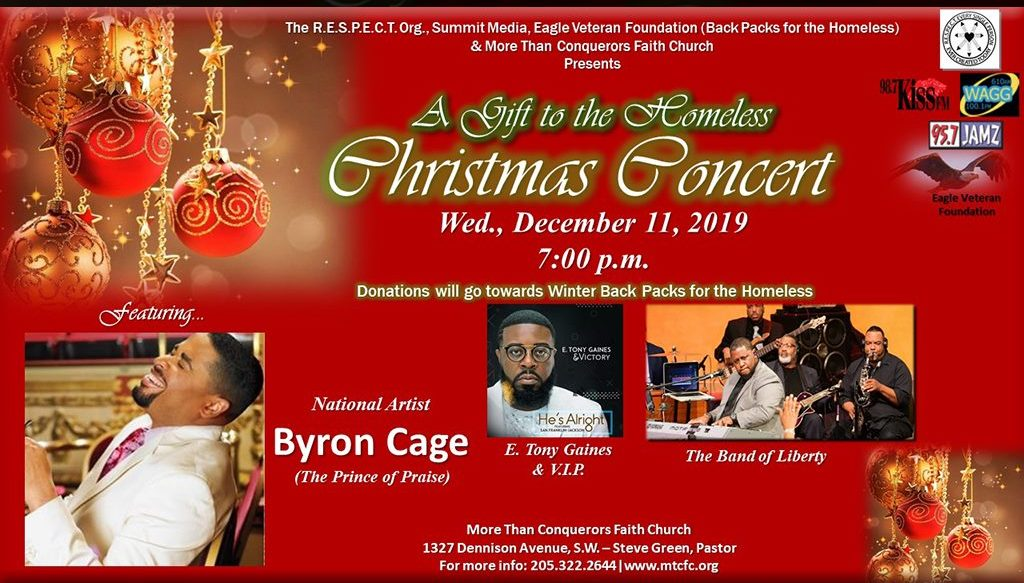 Byron Cage Christmas Concert - More Than Conquerors Church 2019